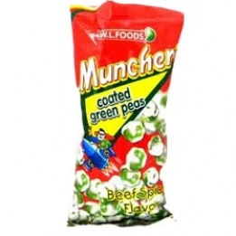 WL Muncher Coated Green Peas Beef Spicy 70 gram
