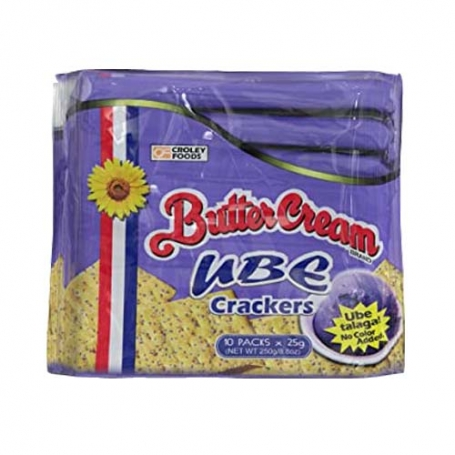 Cr Butter Cream Ube Crackers 10x25 gr